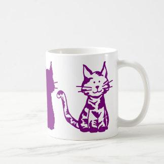 Purple Cats Pattern Coffee Mug