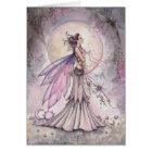 Purple Celestial Fairy Fantasy Art Illustration Card