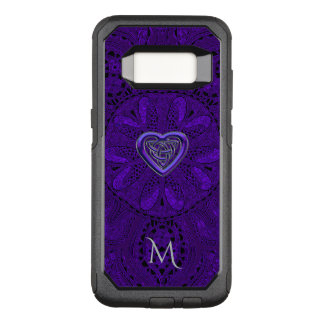 Purple  Celtic Heart Mandala Monogram OtterBox Commuter Samsung Galaxy S8 Case