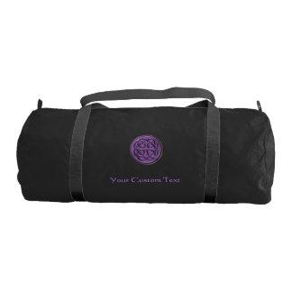 Purple Celtic Knot Personalized Duffel Gym Duffel Bag