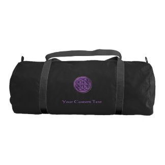 Purple Celtic Knot Personalized Duffel Gym Duffel Bag