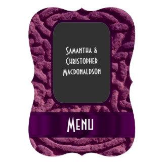 Purple celtic knot  wedding menu 13 cm x 18 cm invitation card