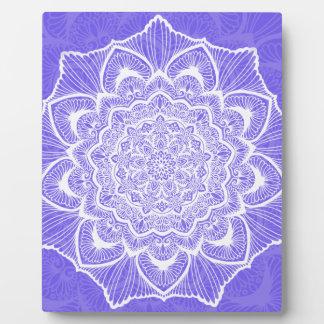 Purple Chakra Blossom, boho, new age, spiritual Plaque