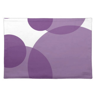 Purple Champagne Bubbles Modern Placemats