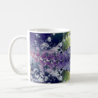 Purple Chaos Fractal Coffee Mug
