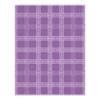 Purple Check Pattern. Flyer