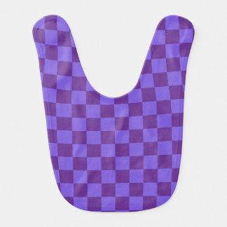 Purple Checkered Baby Bibs