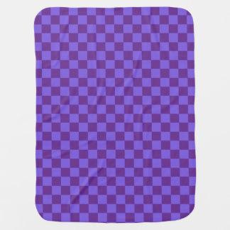 Purple Checkered Baby Blanket
