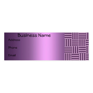 Purple checkered Business Card