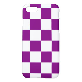 Purple Checkered iPhone 7 Case