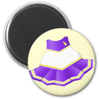 Purple Cheerleader Magnet