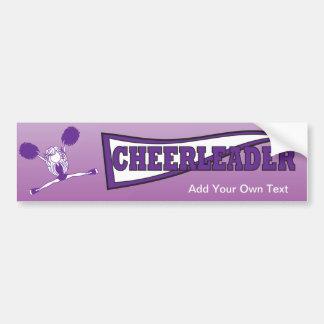 Purple Cheerleader Silhouette Bumper Sticker