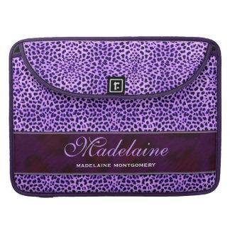 Purple Cheetah Wild Animal Print Sleeve For MacBook Pro