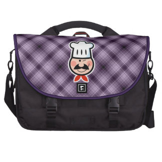 Purple Chef Laptop Messenger Bag