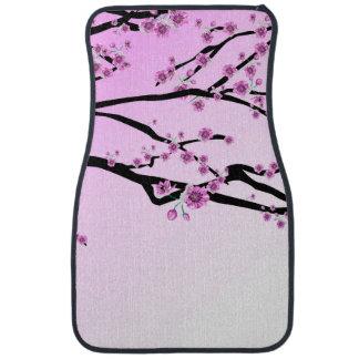Purple Cherry Blooms Car Mat