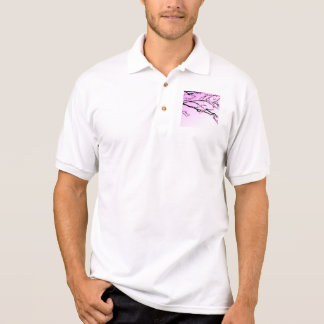 Purple Cherry Blooms Polo Shirt