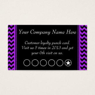 Purple Chevron Discount Promotional Punch Card