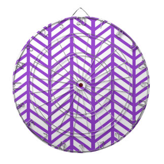 Purple Chevron Folders Dartboard With Darts