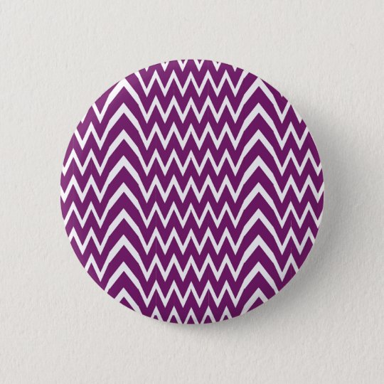 Purple Chevron Illusion 6 Cm Round Badge