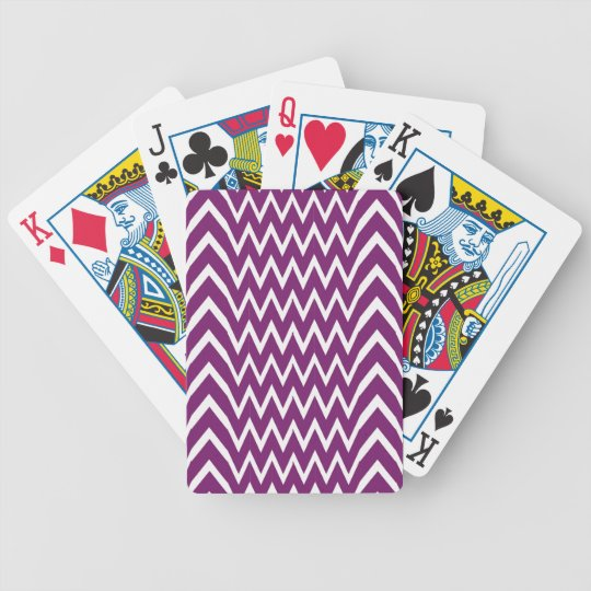Purple Chevron Illusion Bicycle Playing Cards