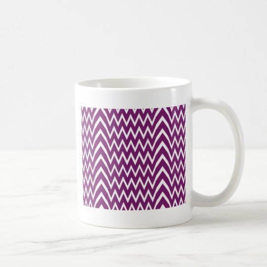 Purple Chevron Illusion Coffee Mug