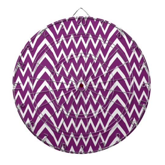 Purple Chevron Illusion Dartboard