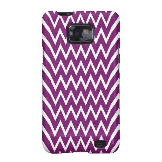 Purple Chevron Illusion Galaxy SII Cases
