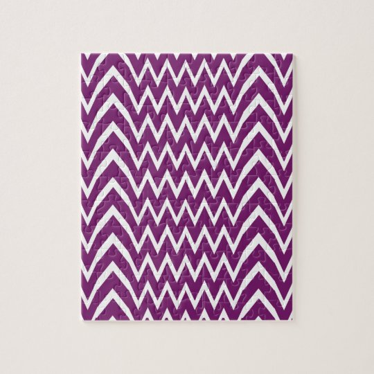 Purple Chevron Illusion Jigsaw Puzzle