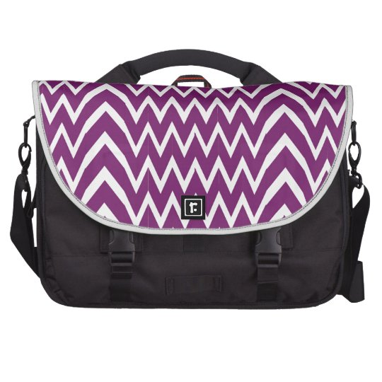 Purple Chevron Illusion Laptop Bag