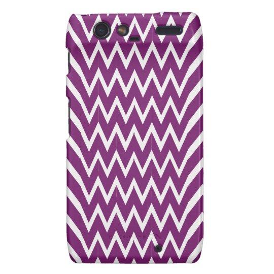 Purple Chevron Illusion Motorola Droid RAZR Cover