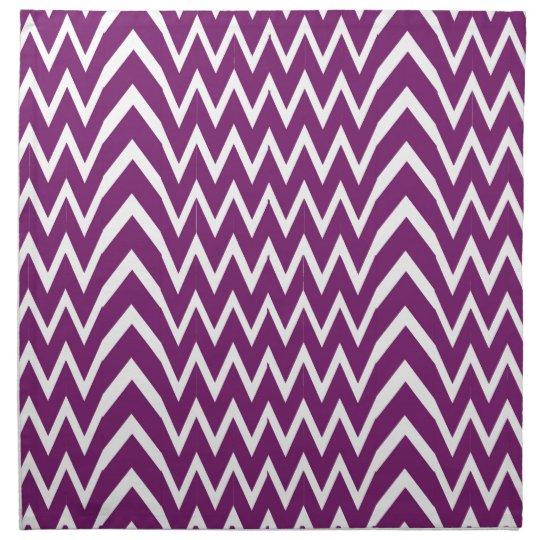 Purple Chevron Illusion Napkin