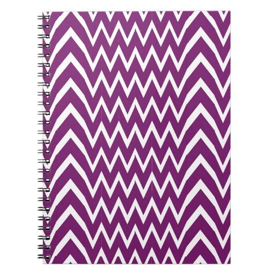 Purple Chevron Illusion Notebook