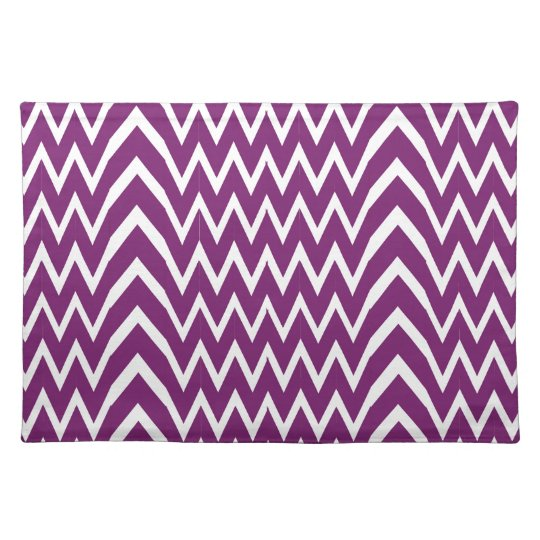 Purple Chevron Illusion Placemat