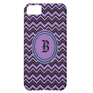 Purple Chevron Initial Iphone4 case iPhone 5C Case