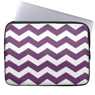 Purple Chevron Pattern Laptop Sleeve