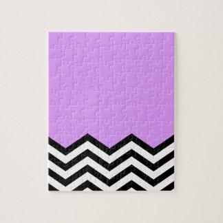 Purple Chevron Piece Puzzles