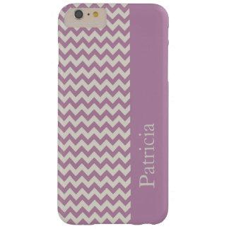Purple Chevron Stripe Custom Name Barely There iPhone 6 Plus Case
