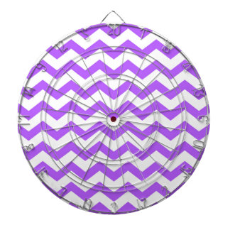 purple chevron stripes dartboard
