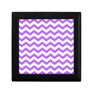 purple chevron stripes gift box