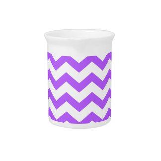 purple chevron stripes pitcher