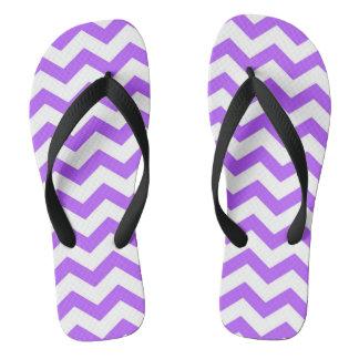Purple Chevron Stripes Thongs