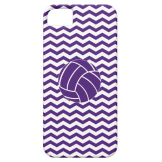 Purple Chevron Stripes Volleyball iPhone 5 Case