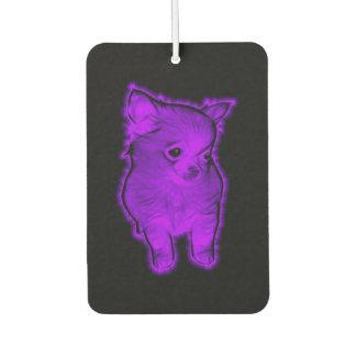 Purple Chihuahua Car Air Freshener