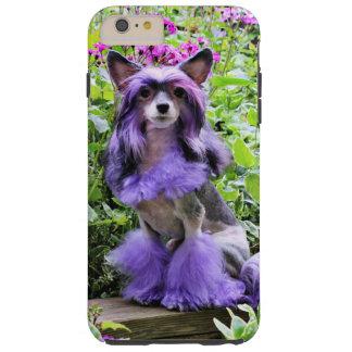 Purple Chinese Crested - Sheeba Tough iPhone 6 Plus Case