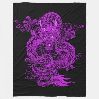 Purple Chinese Emperor Dragon Fleece Blanket