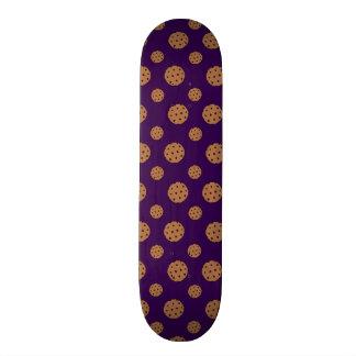 Purple chocolate chip cookies pattern skate decks