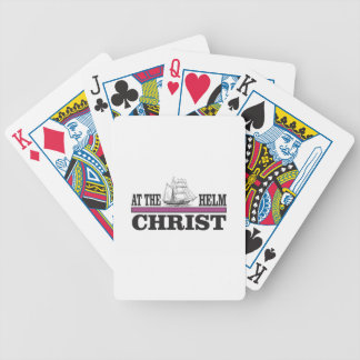 purple Christ at the helm Bicycle Playing Cards
