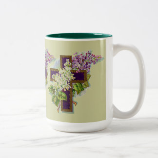 Purple Christian Cross Two-Tone Mug