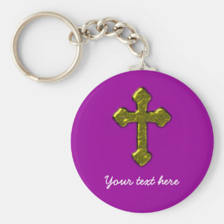 Purple Christian Customisable Key Ring