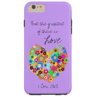 Purple Christian Love iPhone 6/6s Plus Case